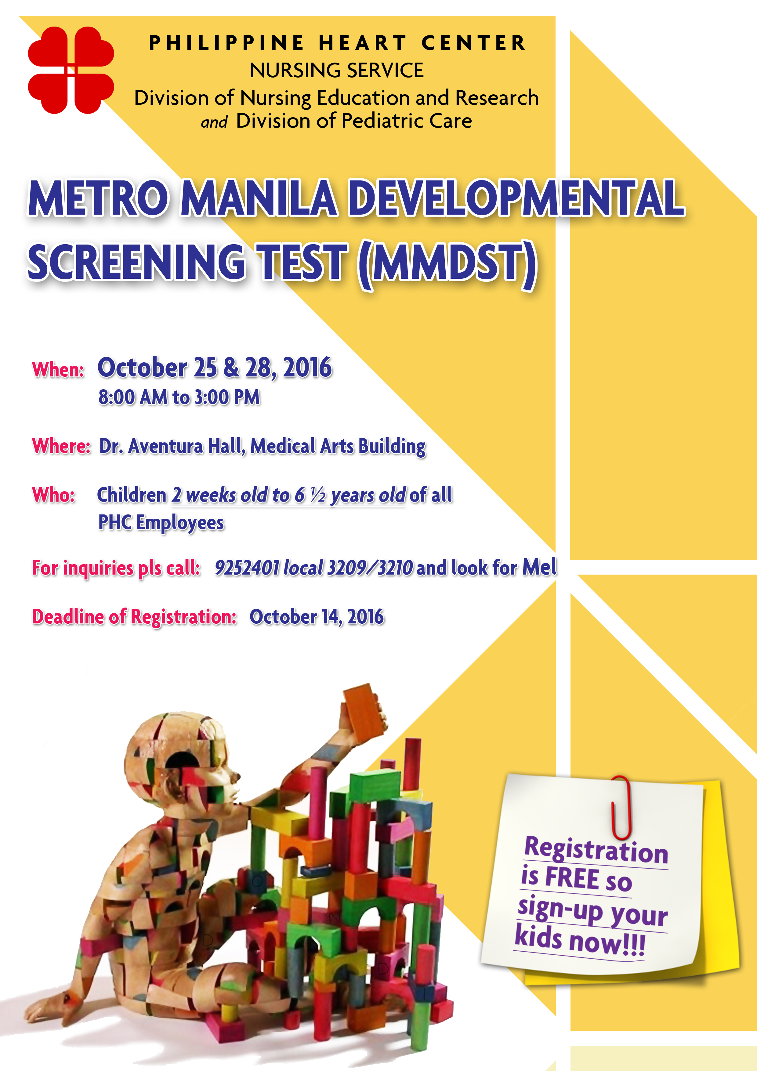 metro manila developmental screening test Test locations i want to get tested platinum hiv testing victoria by  going beyond metro manila for this is me: brave and free.