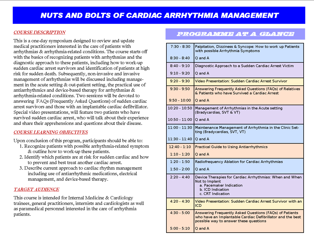 nursing management of the cardiac arrhythmias essay The nursing management of cardiac arrest in the emergency departments: the experience of cardiac arrest nursing management nursing management of cardiac.